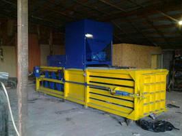 Пресс горизонтальный для ТБО - 50 тонн