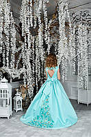 Детское нарядное платье на выпуск мятный