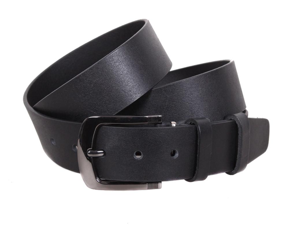 Мужской кожаный ремень Dovhani LT8702-21 115-125 см Черный