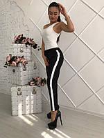 Женские прямые брюки с ломпасами в расцветках 16330SH, фото 1