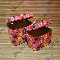 Набор из 2 сундуков 5 Цветов Цветы Красный
