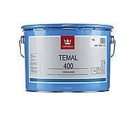 Tikkurila Coatings Temal 400, черная силиконовая краска Темал 400, 10 л