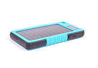 Павер Банк на солнечной батарее, с дисплеем 20000 mah Синий
