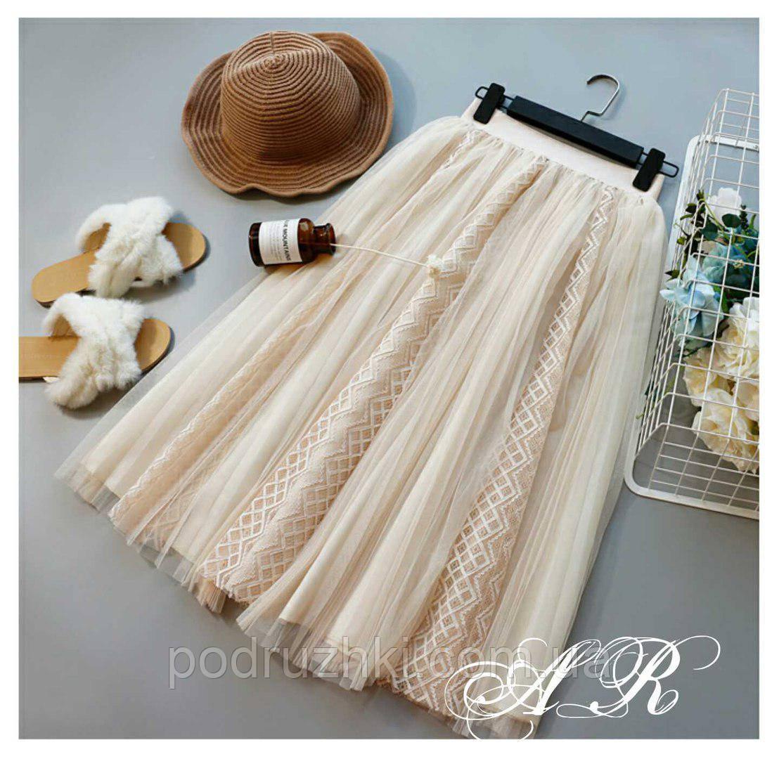 591ed130680 Женская красивая юбка из фатина плиссе (расцветки)  продажа