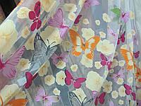 Тюль в детскую Бабочки V1