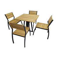 Комплект стол со стульями  Изабелла (для кафе, бара, ресторана, летней площадки, сада, дачи)