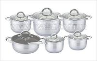 Посуды Набор Кухонной, 6 Предметов 2.1, 2.1, 3.0, 4.0, 6.6, 5.40 Лтр.