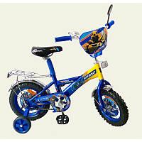 """Детский велосипед 2-х колесный 12"""" сине-жёлтый"""