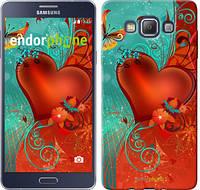 "Чехол на Samsung Galaxy A7 A700H Сердце в цветах ""220c-117-450"""