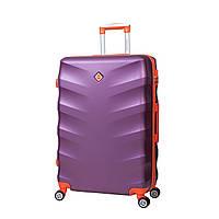 Чемодан на колесах Bonro Next (средний) т. фиолетовий