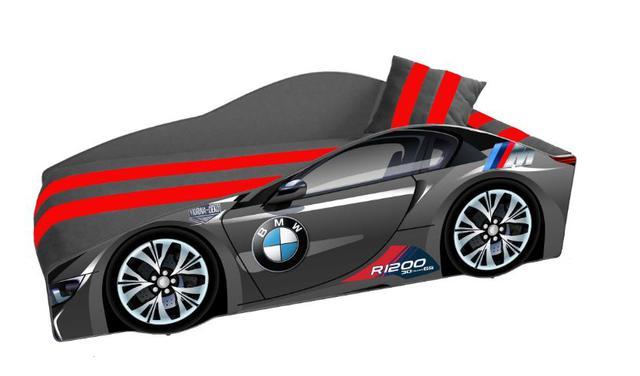 Кровать детская машина серии Elit Е-1 BMW gray