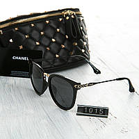 Женские брендовые очки Chanel Шанель Polaroid черные