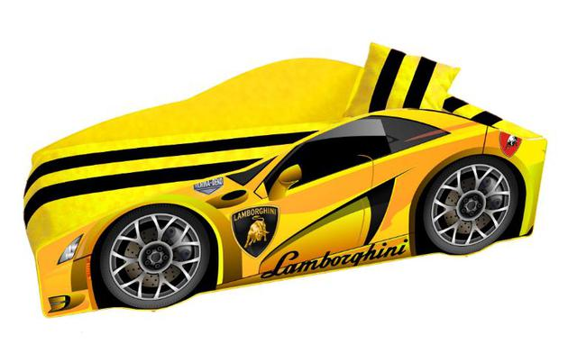Кровать детская машина серии Elit Е-3 Lamborghini yellow