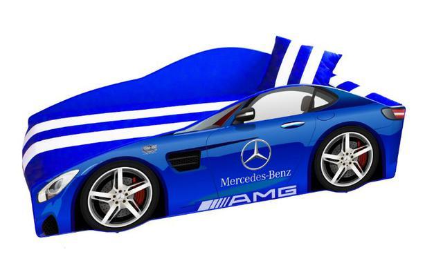 Кровать детская машина серии Elit Е-4 Mercedes blue