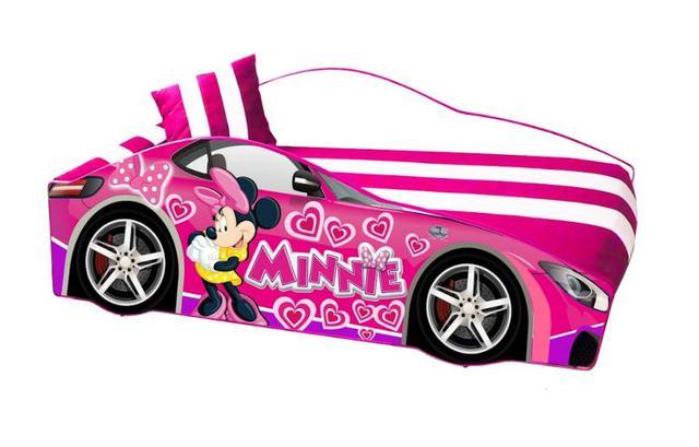 Кровать детская машина серии Elit Е-7 Pink