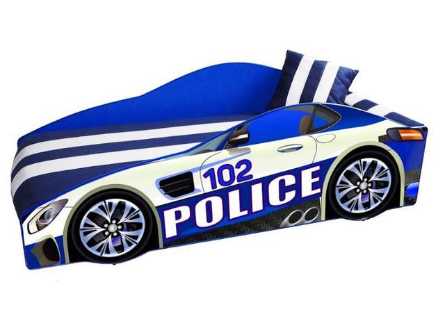 Кровать детская машина серии Elit Е-8 Police blue