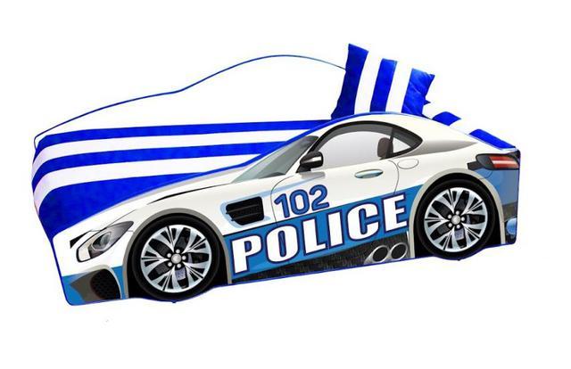 Кровать детская машина серии Elit Е-8 Police white