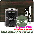 "Морилка Аква - Антисептик для дерева Element Pro ""WOODSTAIN"" водная 2,5лт Палисандр, фото 3"