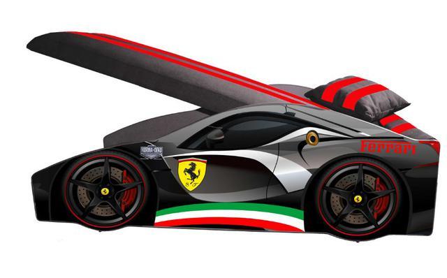 Кровать детская машина серии Elit Е-2 Ferrari gray (фото 2)