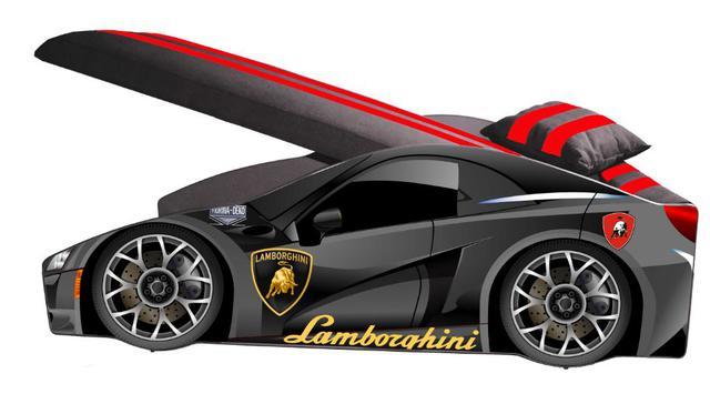 Кровать детская машина серии Elit Е-3 Lamborghini gray (фото 2)