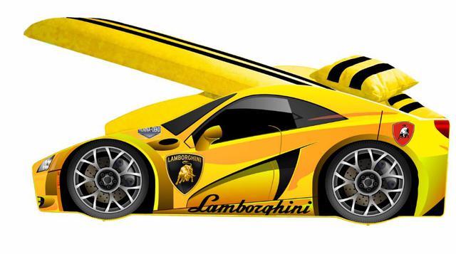 Кровать детская машина серии Elit Е-3 Lamborghini yellow (фото 2)