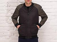 Куртка мужская весенняя, летняя, бомбер Black - Khaki