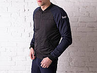Куртка мужская весенняя, летняя, бомбер Black - Navy