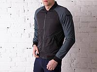 Куртка мужская весенняя, летняя, бомбер Black - Gray