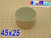 Магнит неодимовый 45х25, N42,85 кг Сертификат Подбор 100% Гарантия 30лет