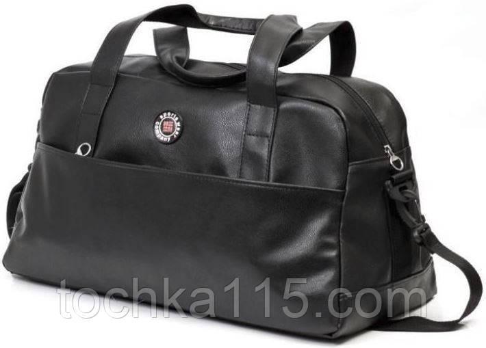 Сумка дорожная мужская, спортивная сумка средняя черный