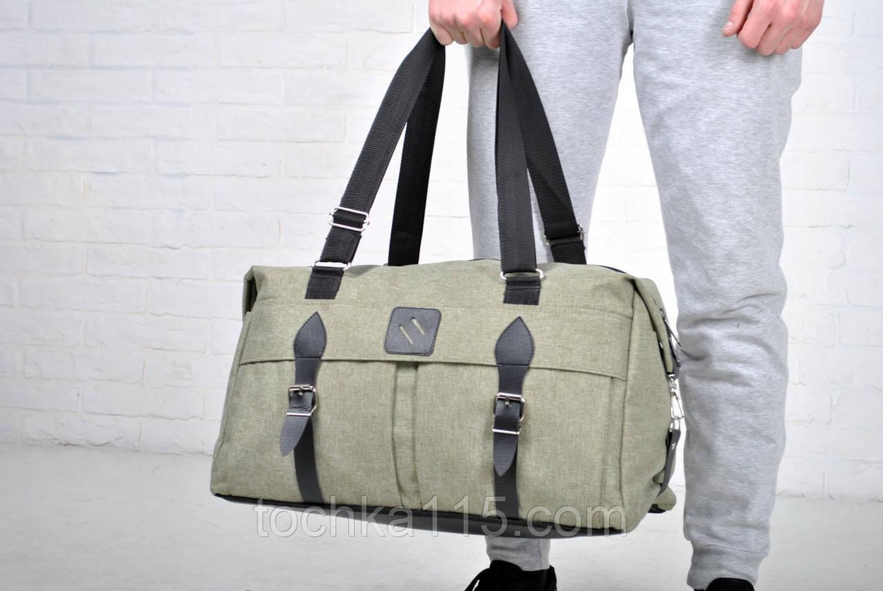 8ccb39333acd Дорожная мужская сумка, женская дорожная сумка, сумка в дорогу серая ...