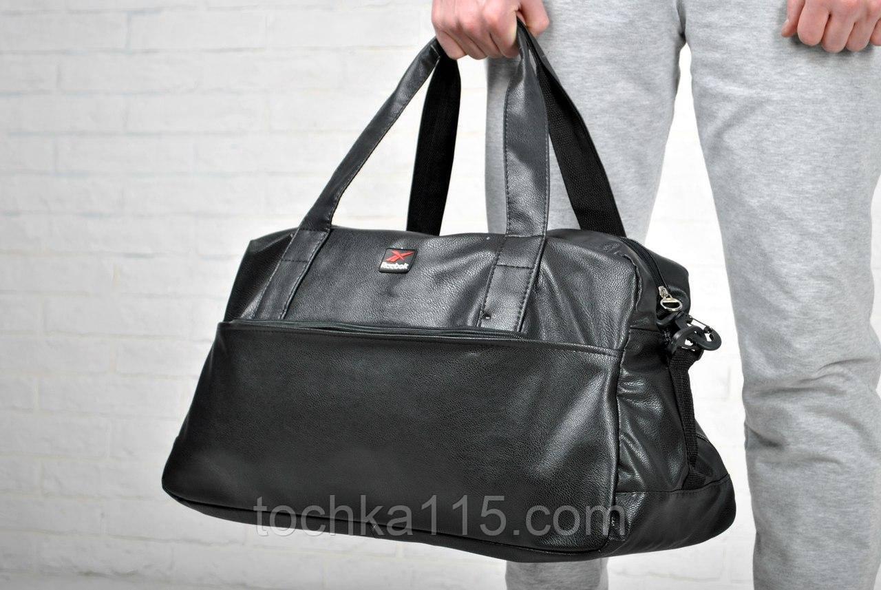 Дорожная сумка, кожаная сумка Reebok, сумка мужская, сумка женская, спортивная сумка  реплика