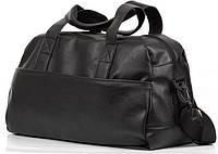 Дорожная сумка, черная кожаная сумка, сумка мужская, сумка женская, спортивная сумка, фото 1
