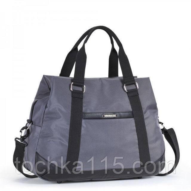 Дорожная сумка Dolly 775 серый на 3-и кармана, мужская дорожная сумка, женская дорожная сумка