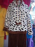Женская махровая теплая пижама