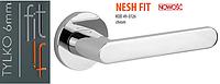 Дверная ручка VDS Nesh Fit тонкая розетка хром