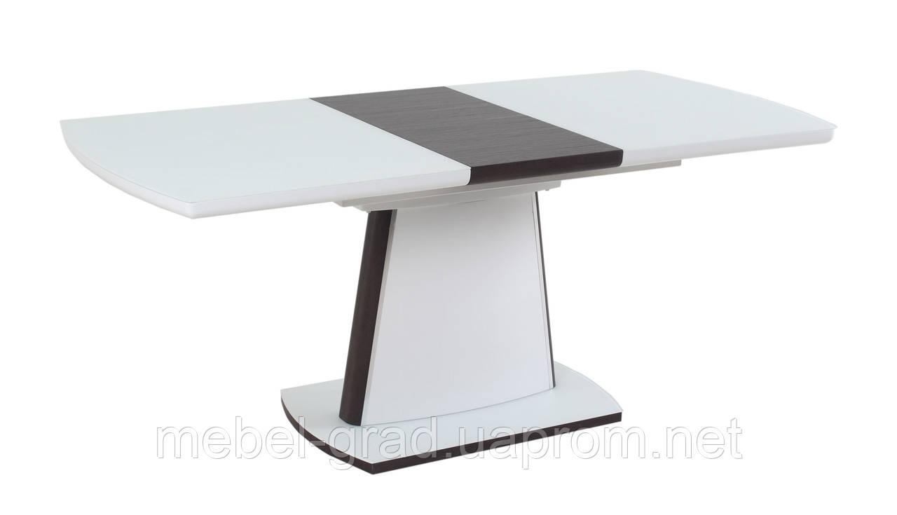 Стол обеденный (раскладной) TML-520 Vetro Mebel белый - венге