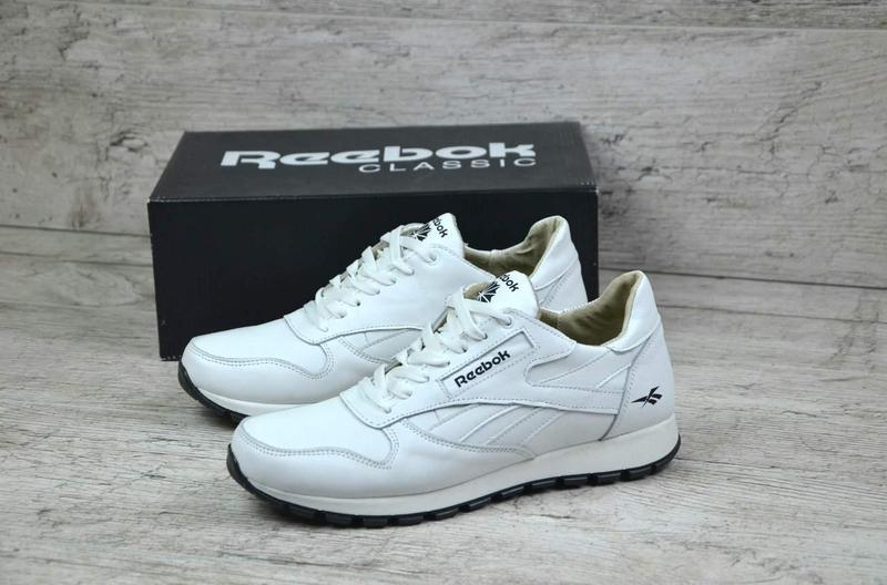 2d65a000dfb3 Мужские Кожаные Кроссовки в Стиле Reebok Classic White Pearl — в ...