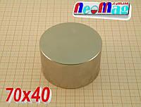Универсальный неодимовый магнит 70*40, 220кг, N42, ПОДБОР 100%