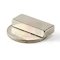 Магнит неодимовый прямоугольный NdFeB 25x10x5mm