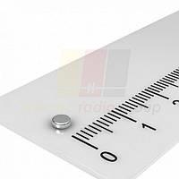 Магнит неодимовый шайба диск цилиндр NdFeB 3x1mm