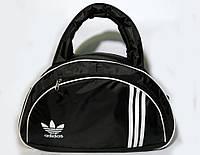 Спортивная женска сумка Adidas, женская фитнес сумка черный  реплика, фото 1