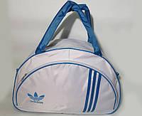 Спортивная женска сумка Adidas, белый/голубой  реплика, фото 1