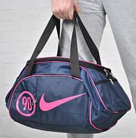 Спортивная сумка для тренировок Adidas, фитнес сумка синий/розовый  реплика
