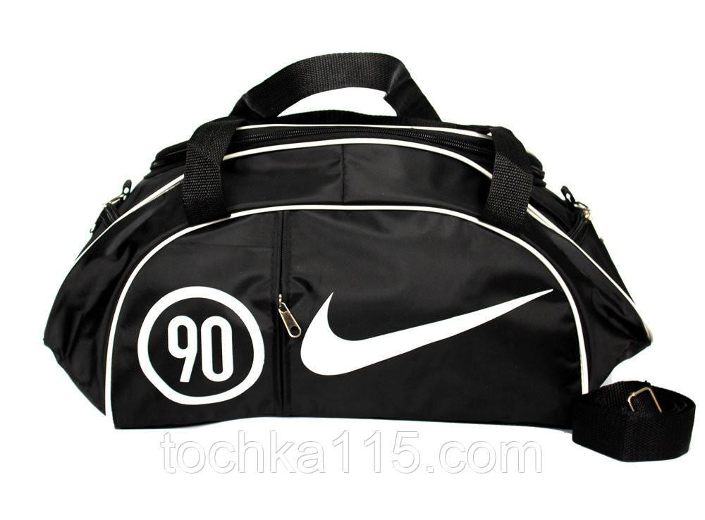 Спортивная сумка для тренировок Nike, фитнес сумка черный/белый  реплика