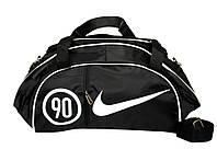 Спортивная сумка для тренировок Nike, фитнес сумка черный/белый  реплика, фото 1