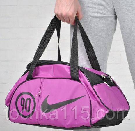 Спортивная сумка для тренировок Adidas, фитнес сумка сирень  реплика