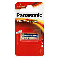 Батарейки LR1, Panasonic, щелочная, 1 шт, Blister (LR-1L/1BE)