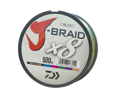 Шнур Daiwa J-Braid MULTICOLOR 500м. 0,41 65lb (14690830)