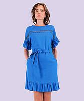 Женское льняное платье. Модель 136  Размеры 44-50